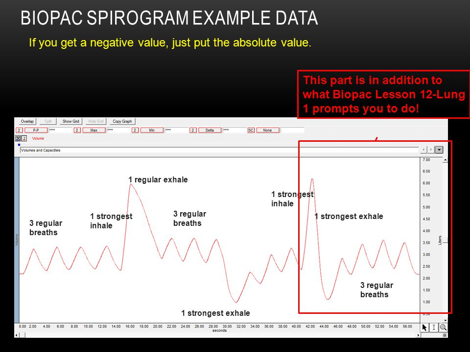 BioPac Spirogram Example Data
