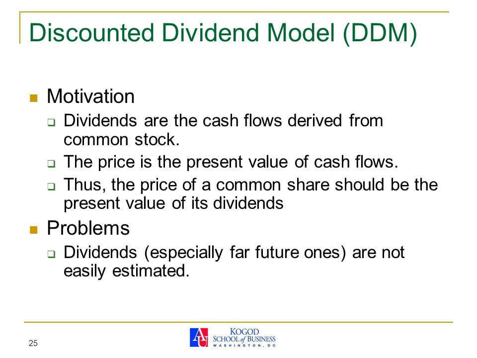 Discounted Dividend Model (DDM)