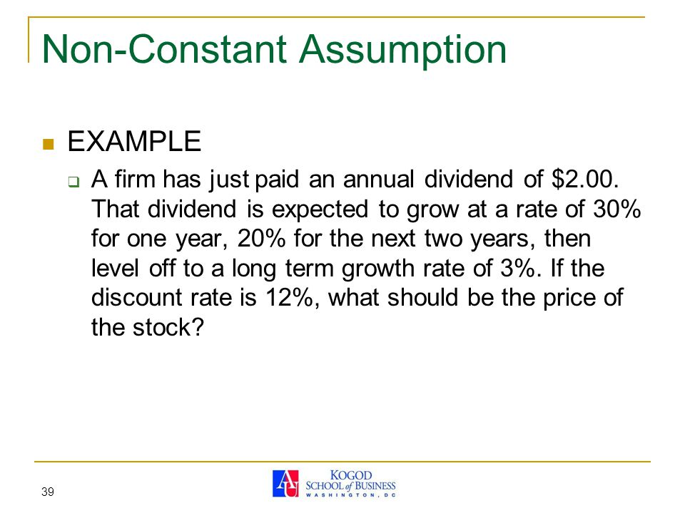 Non-Constant Assumption