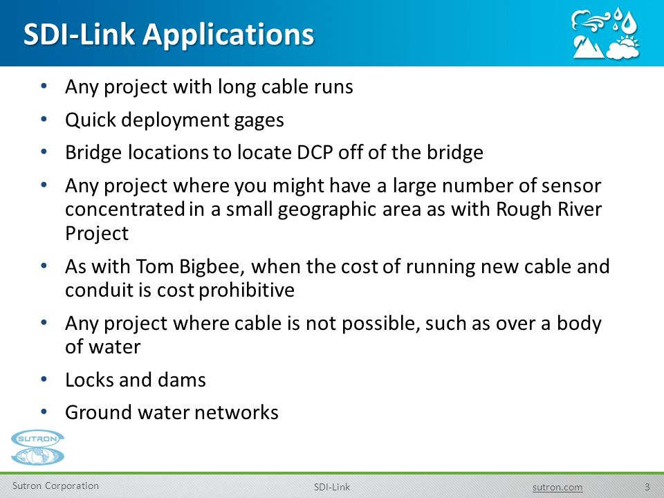 SDI-Link Applications