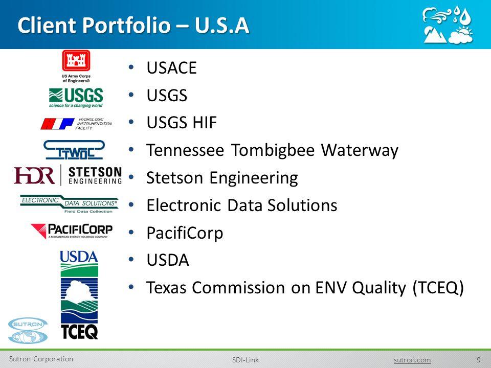 Client Portfolio – U.S.A USACE USGS USGS HIF