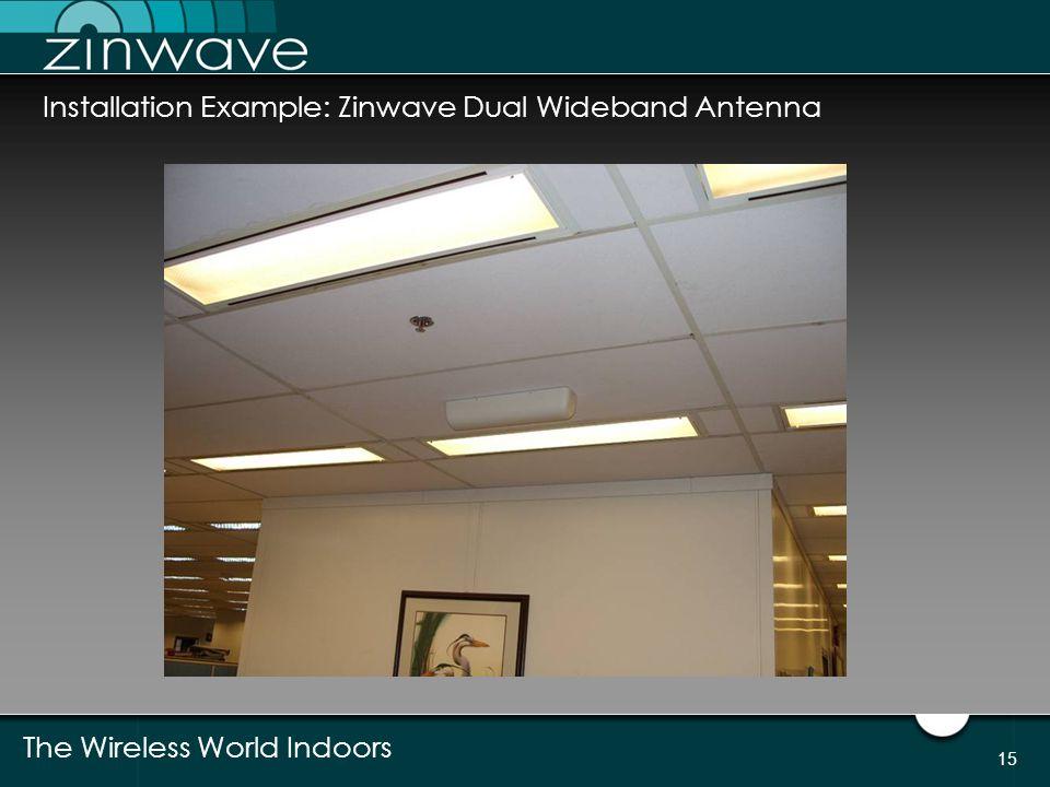 Installation Example: Zinwave Dual Wideband Antenna