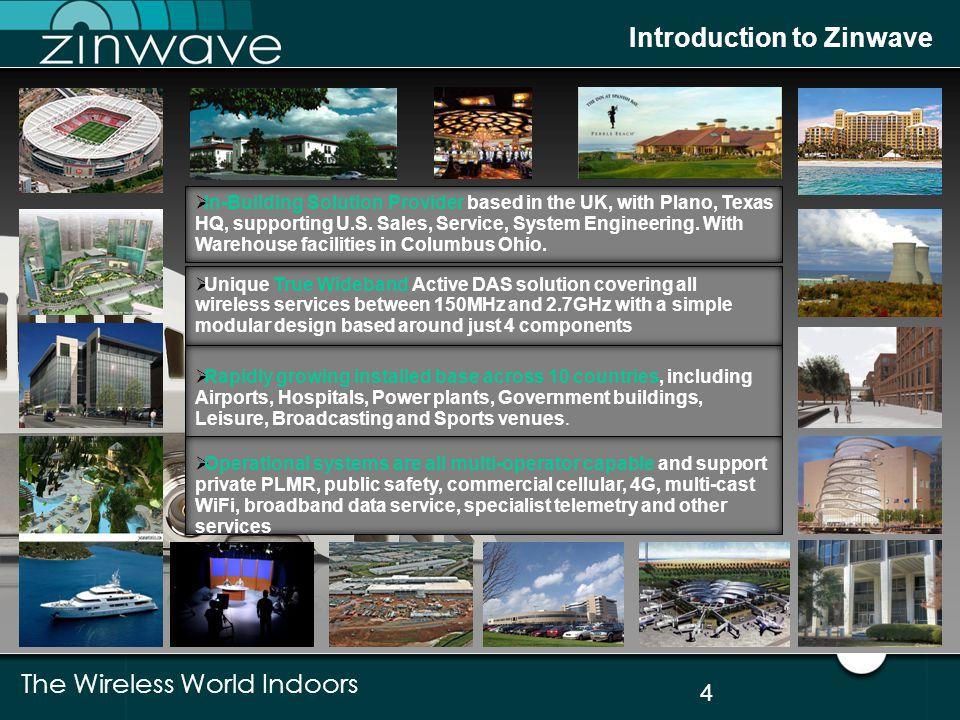 Introduction to Zinwave