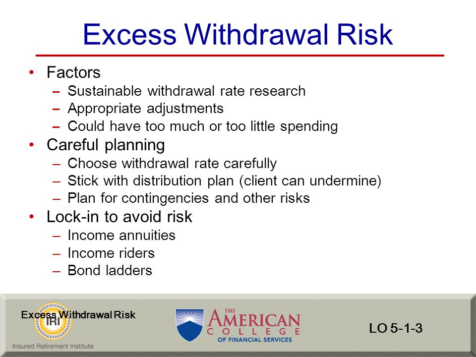 Excess Withdrawal Risk