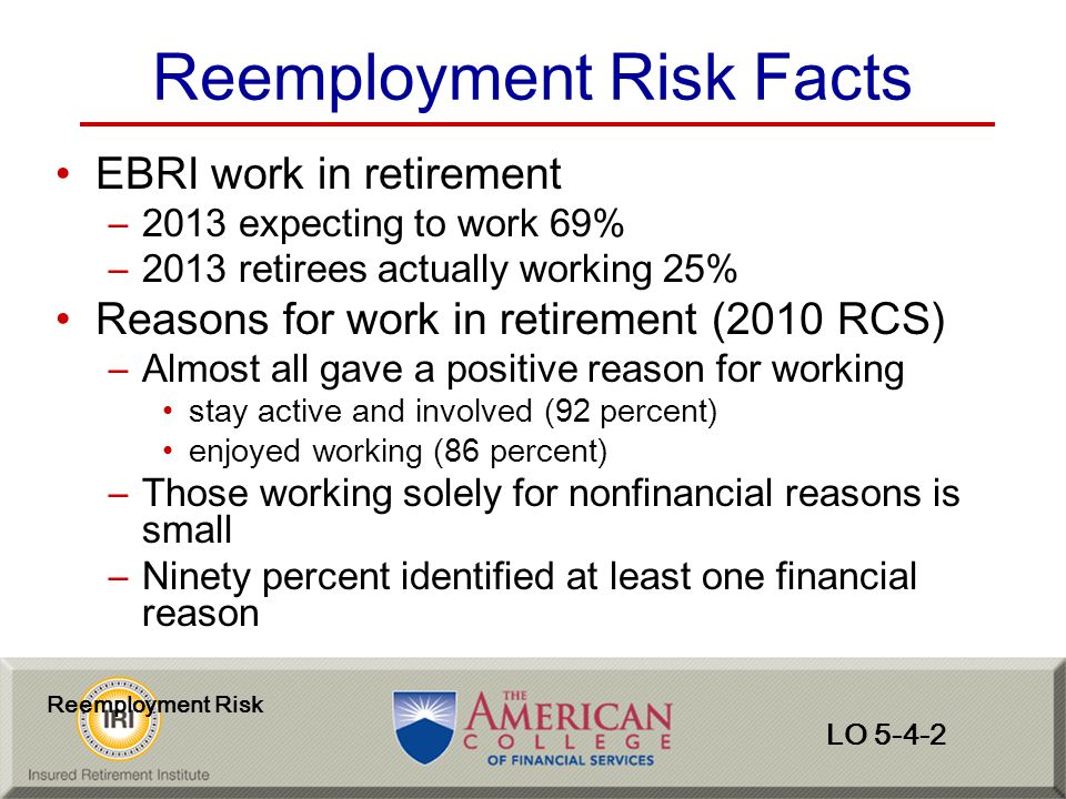 Reemployment Risk Facts