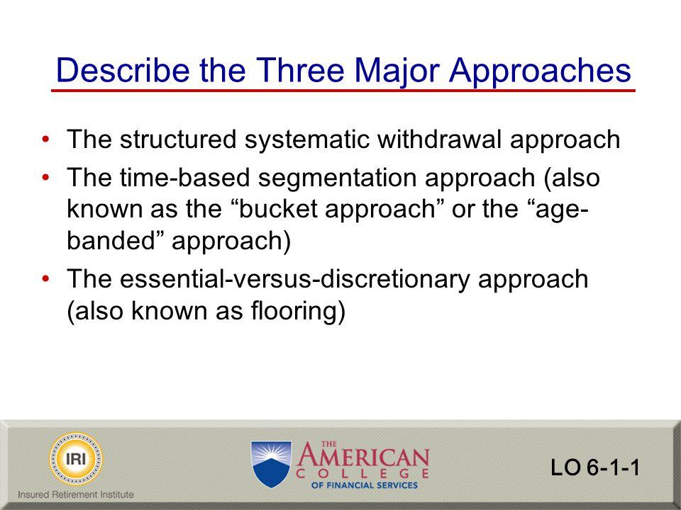 Describe the Three Major Approaches