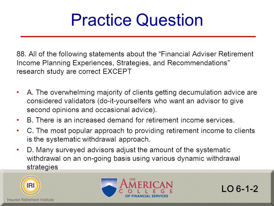 Practice Question LO 6-1-2