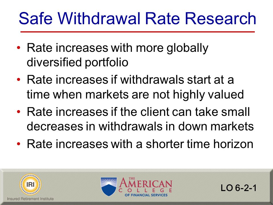 Safe Withdrawal Rate Research