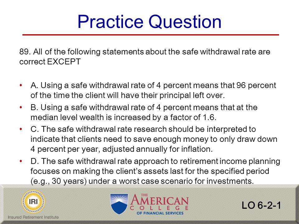 Practice Question LO 6-2-1