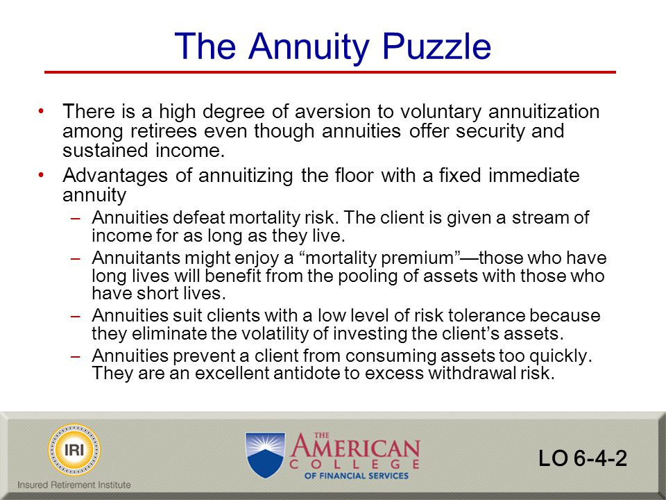 The Annuity Puzzle LO 6-4-2