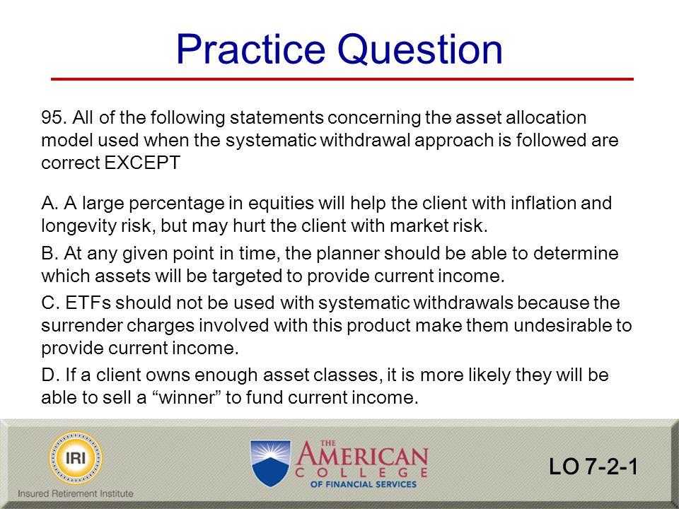 Practice Question LO 7-2-1