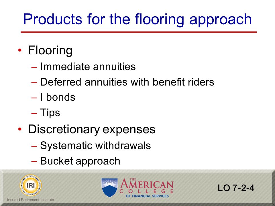 Products for the flooring approach