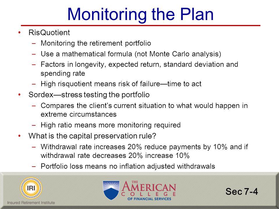 Monitoring the Plan Sec 7-4 RisQuotient