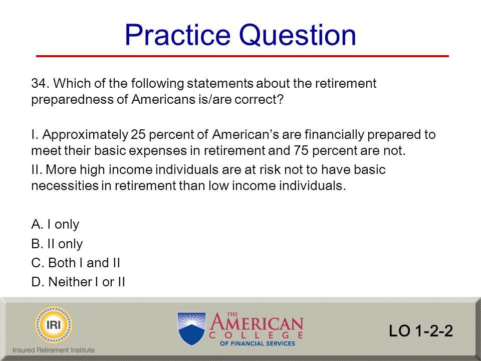 Practice Question LO 1-2-2