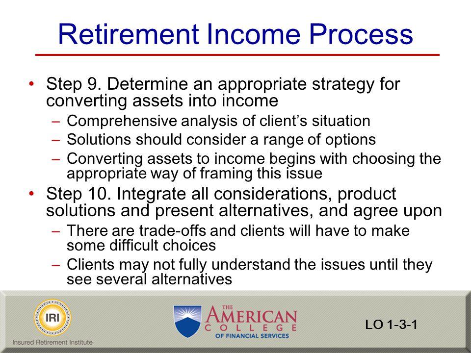 Retirement Income Process