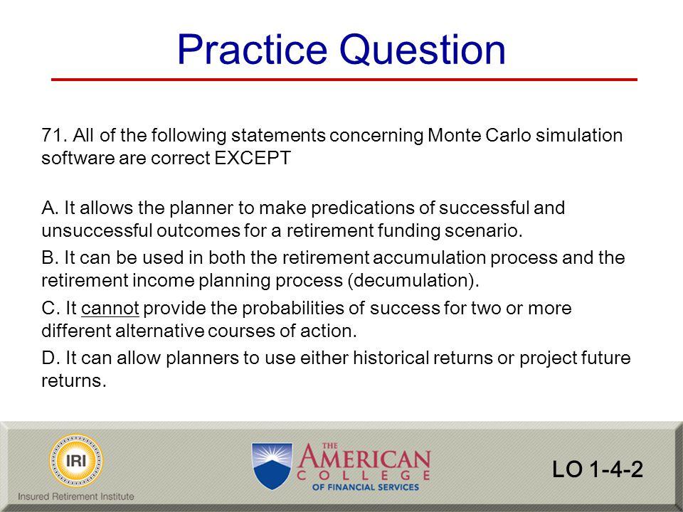 Practice Question LO 1-4-2