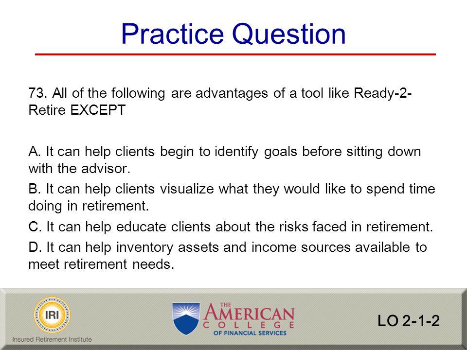 Practice Question LO 2-1-2