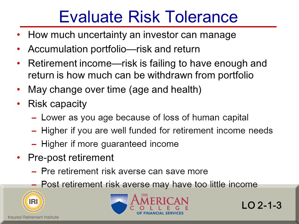 Evaluate Risk Tolerance