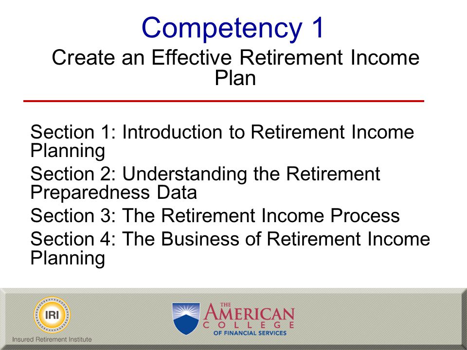 Create an Effective Retirement Income Plan