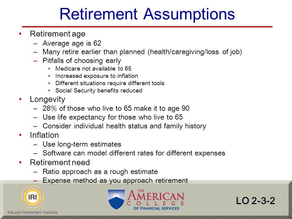 Retirement Assumptions