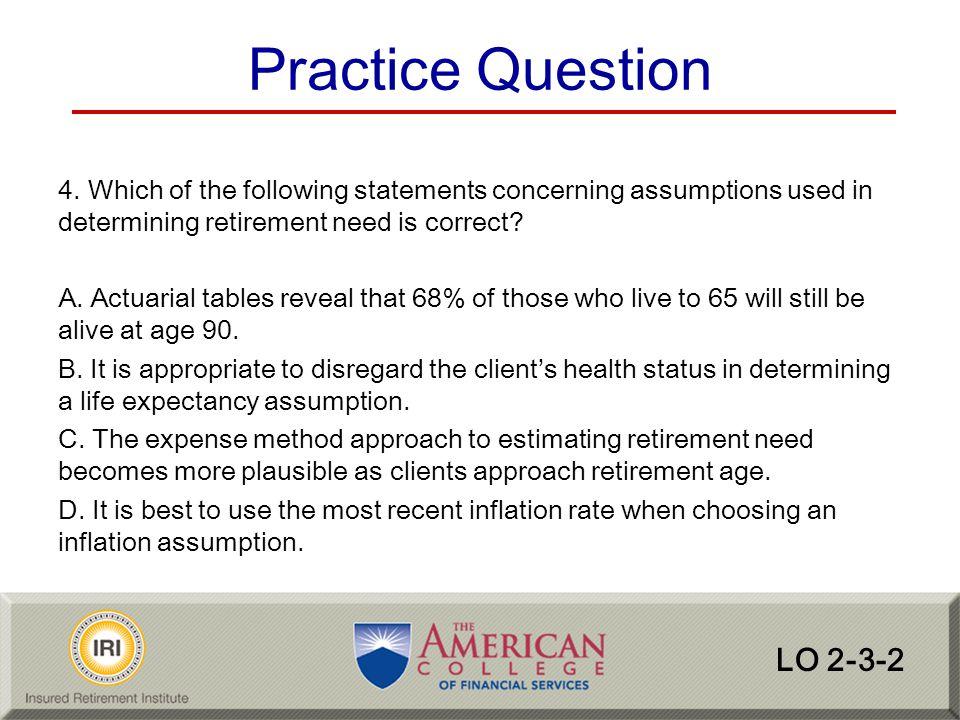 Practice Question LO 2-3-2