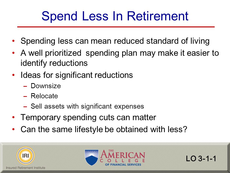 Spend Less In Retirement