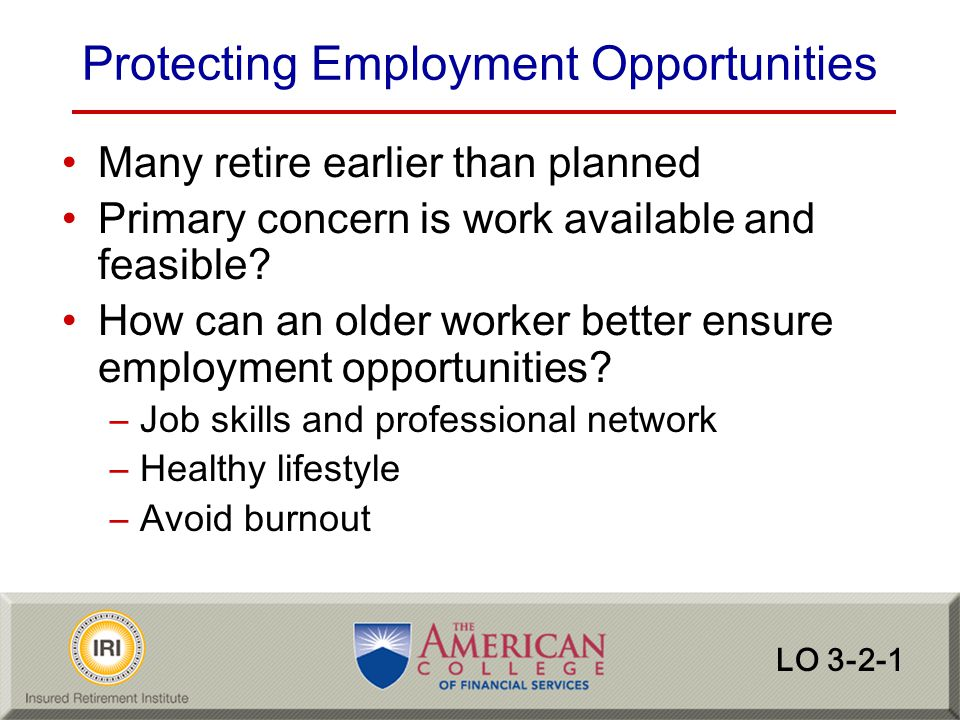 Protecting Employment Opportunities
