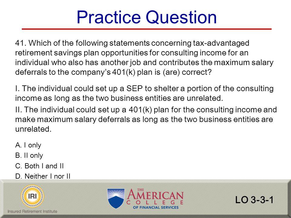 Practice Question LO 3-3-1