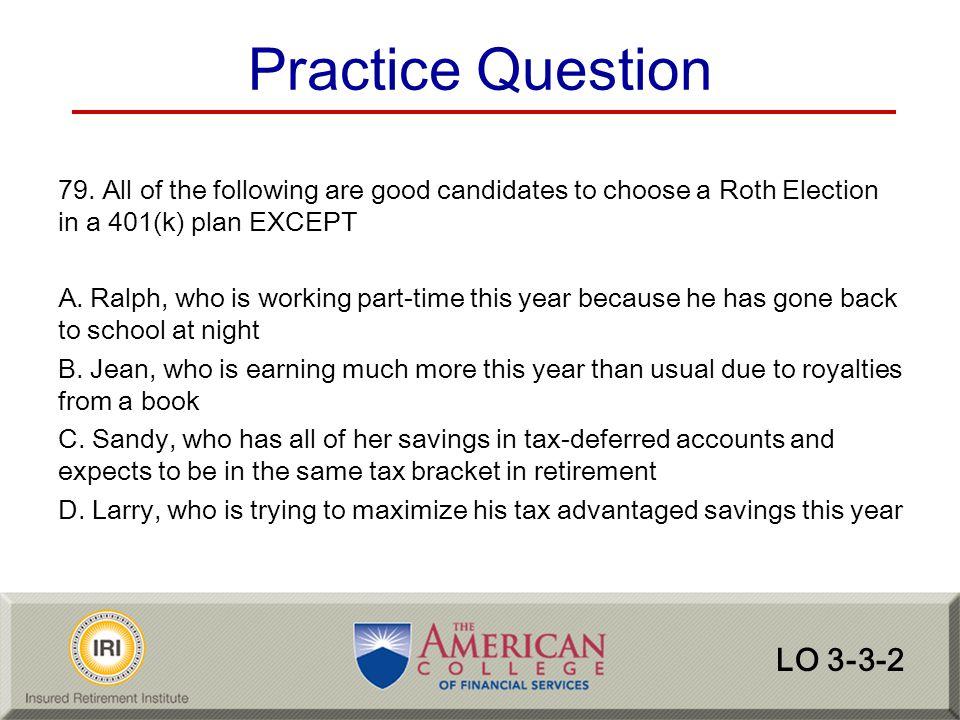 Practice Question LO 3-3-2