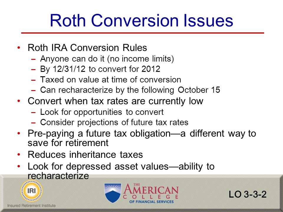 Roth Conversion Issues