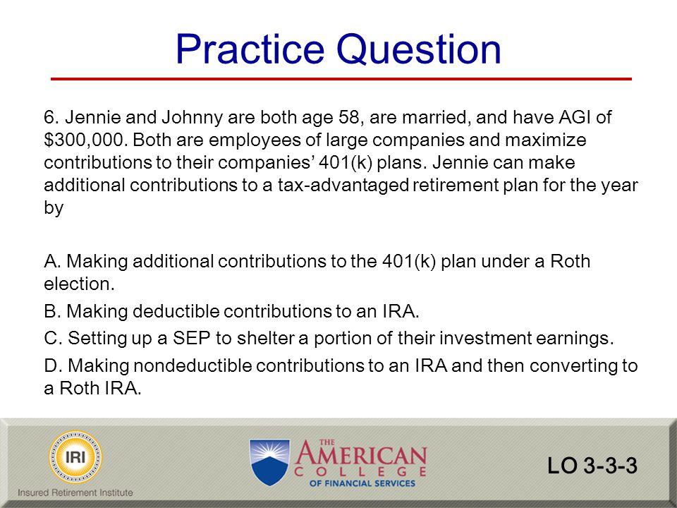 Practice Question LO 3-3-3