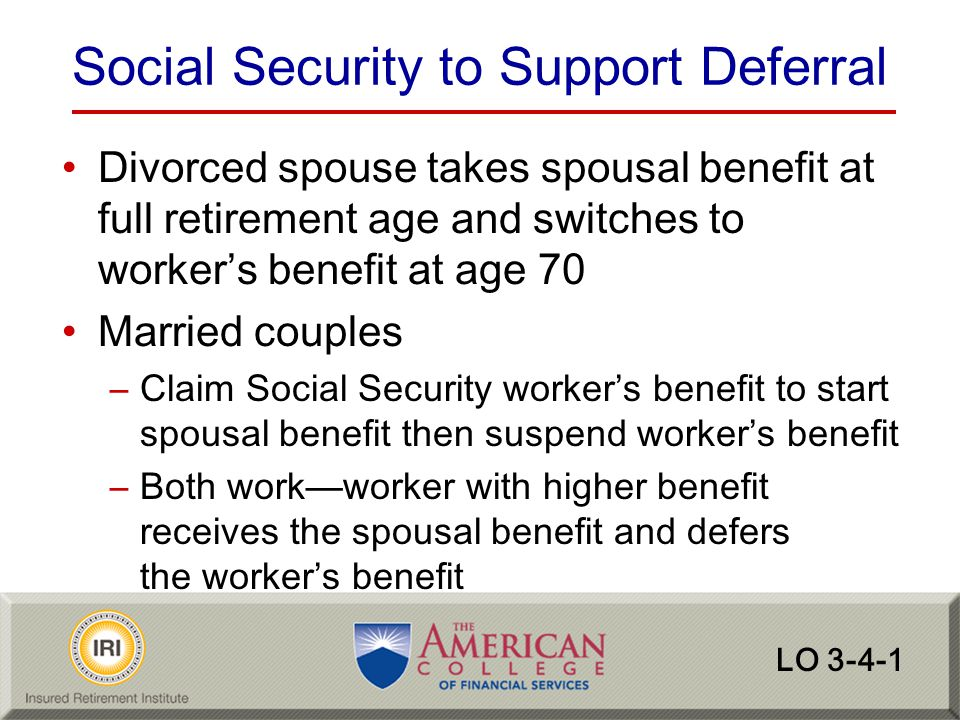Social Security to Support Deferral