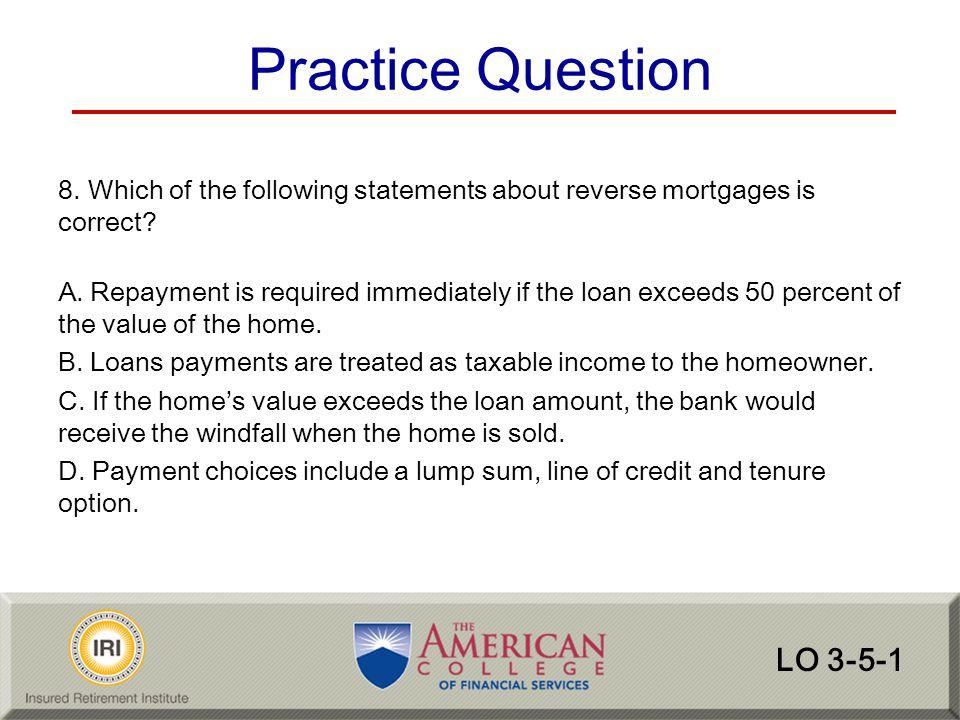 Practice Question LO 3-5-1