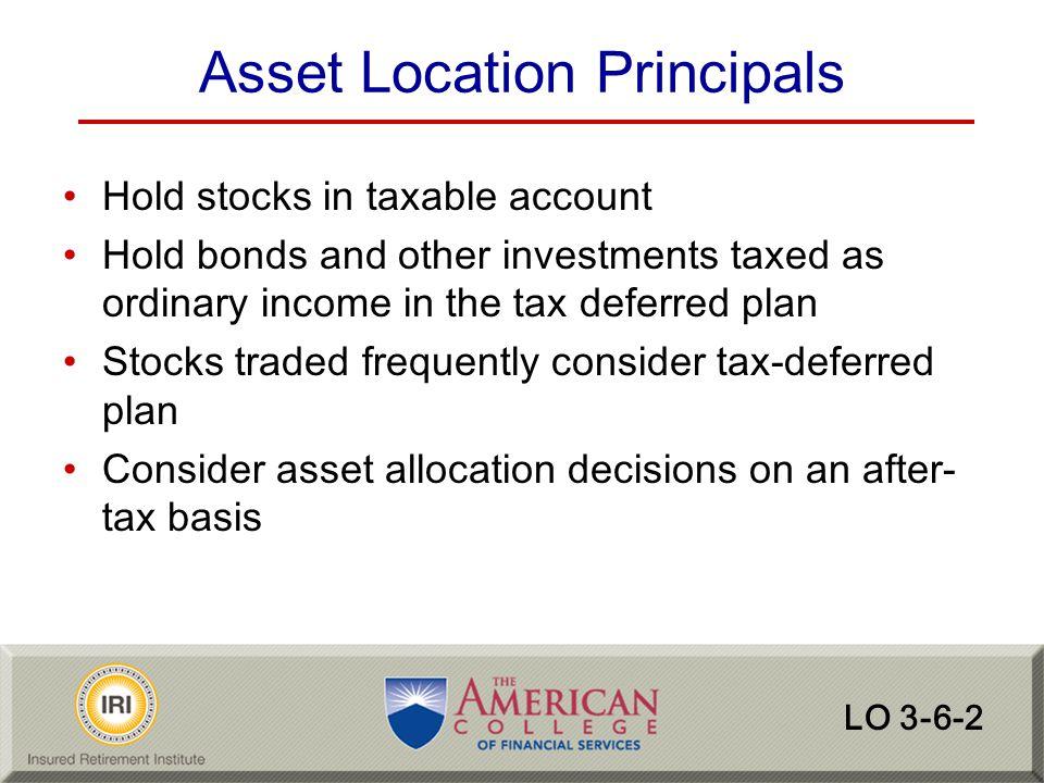 Asset Location Principals