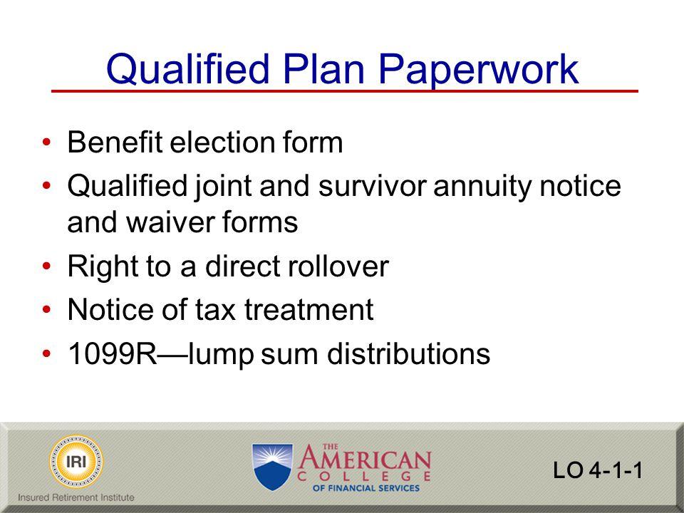 Qualified Plan Paperwork