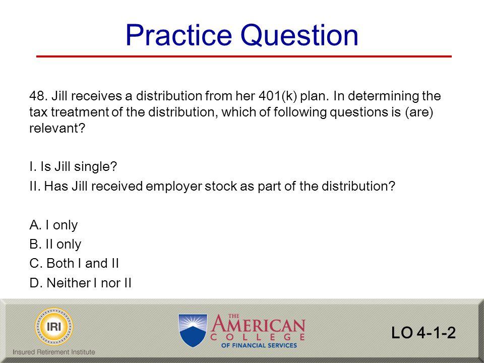 Practice Question LO 4-1-2