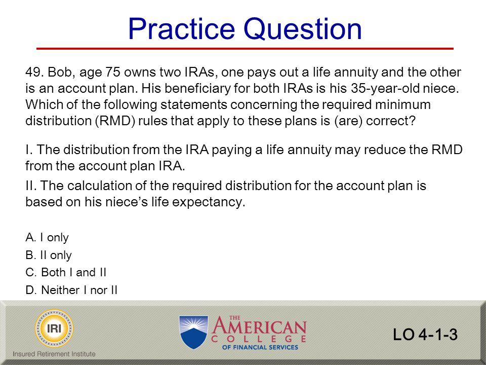 Practice Question LO 4-1-3