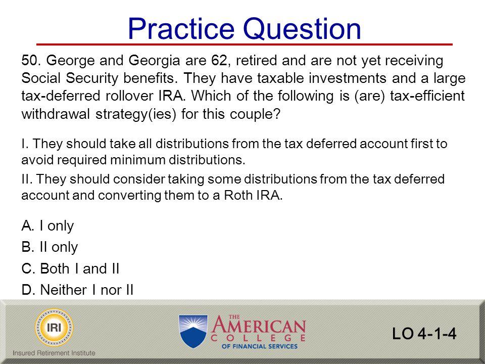Practice Question LO 4-1-4