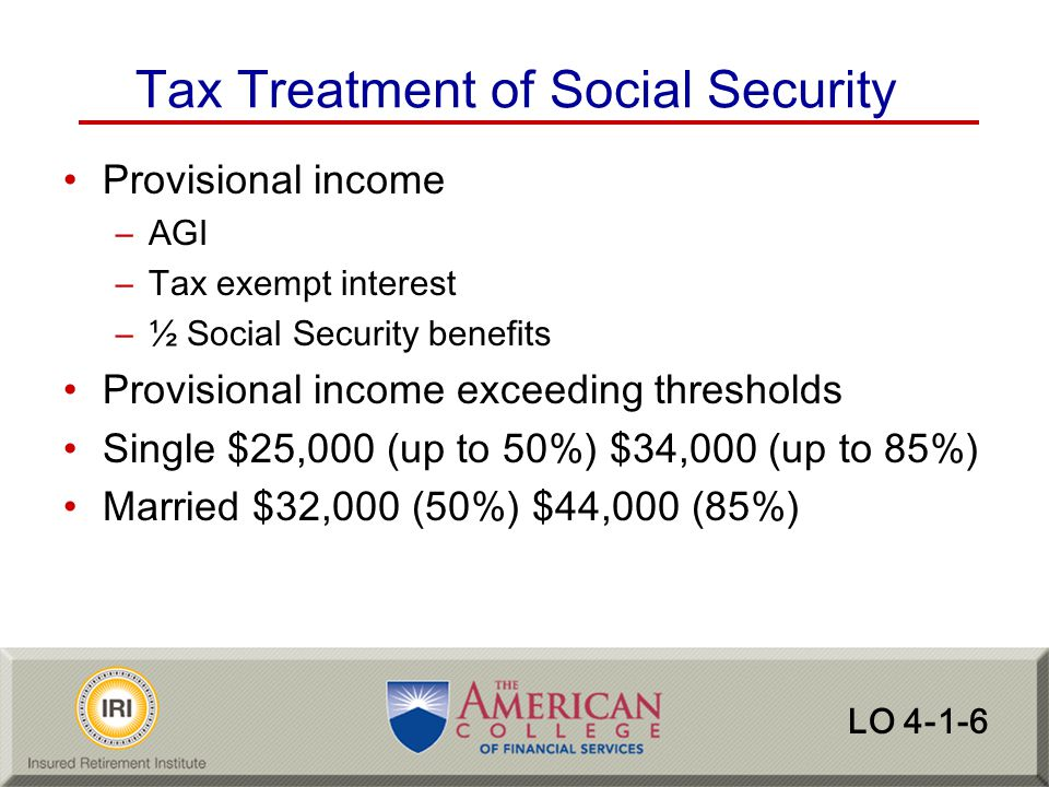 Tax Treatment of Social Security