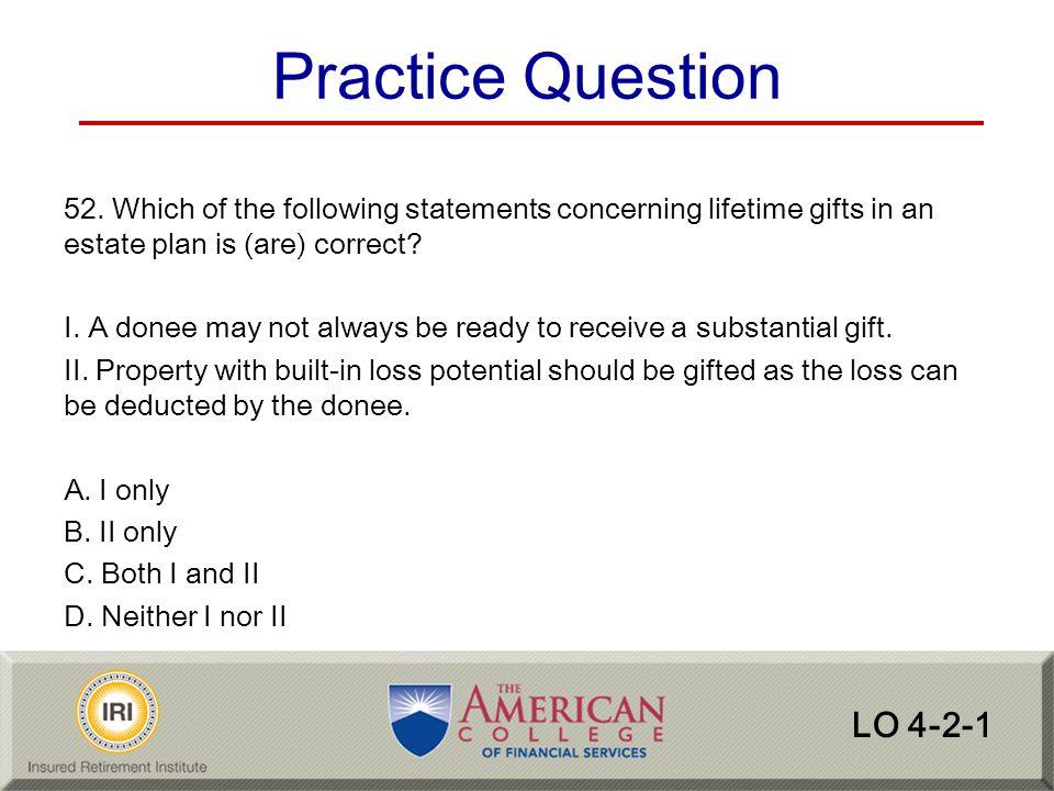 Practice Question LO 4-2-1