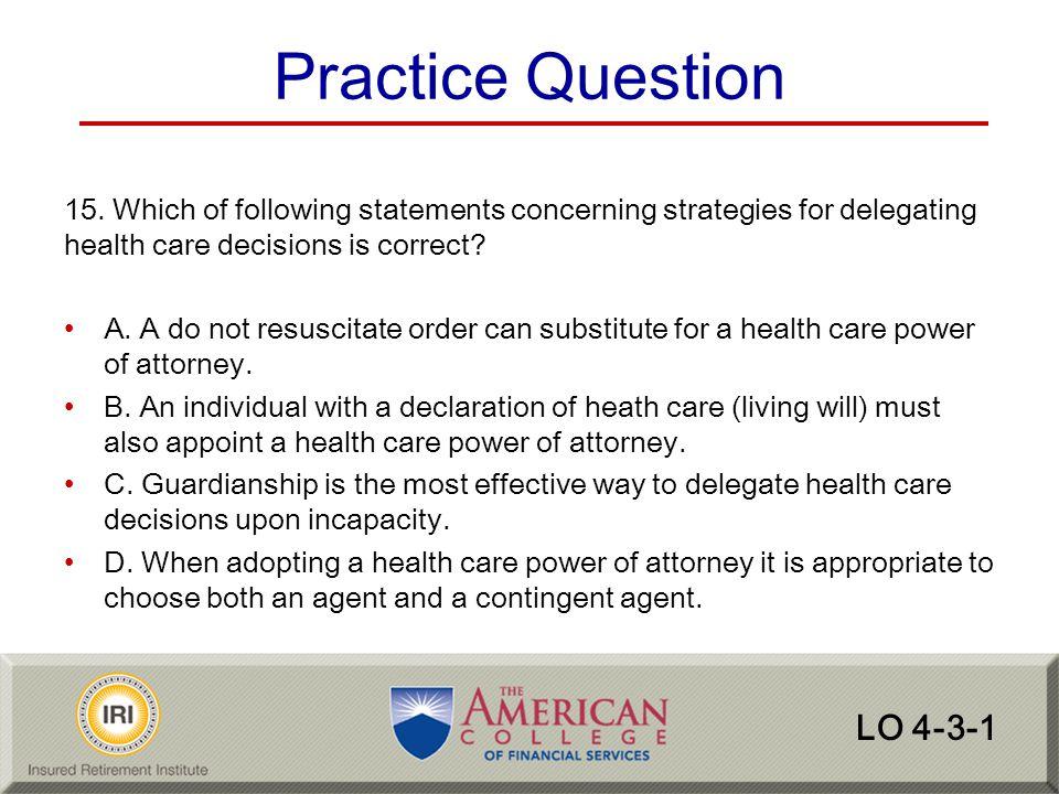 Practice Question LO 4-3-1