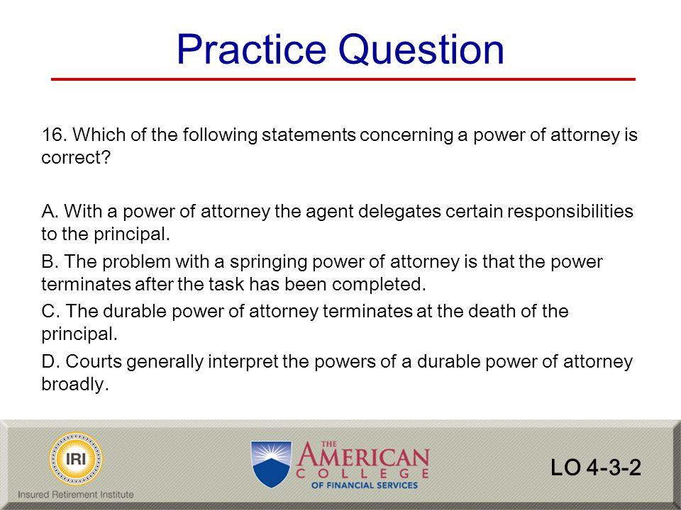 Practice Question LO 4-3-2