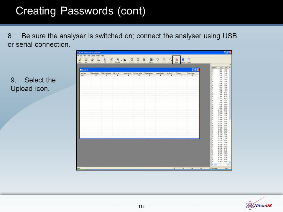 Creating Passwords (cont)
