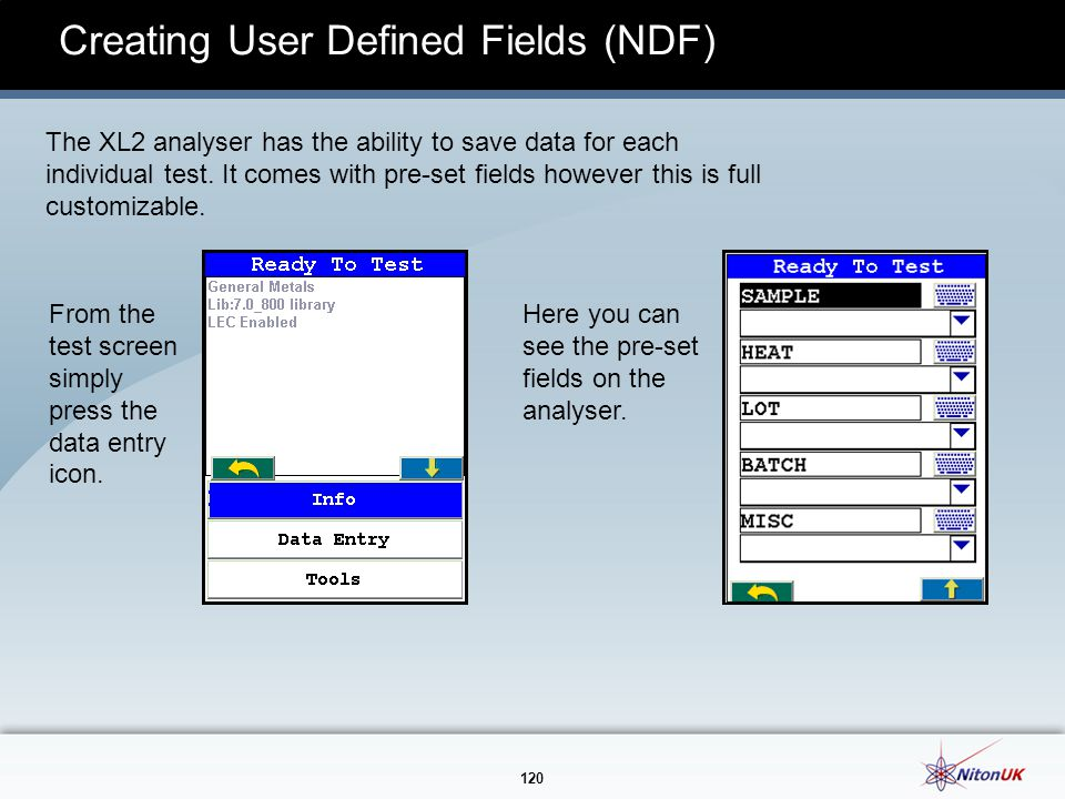 Creating User Defined Fields (NDF)