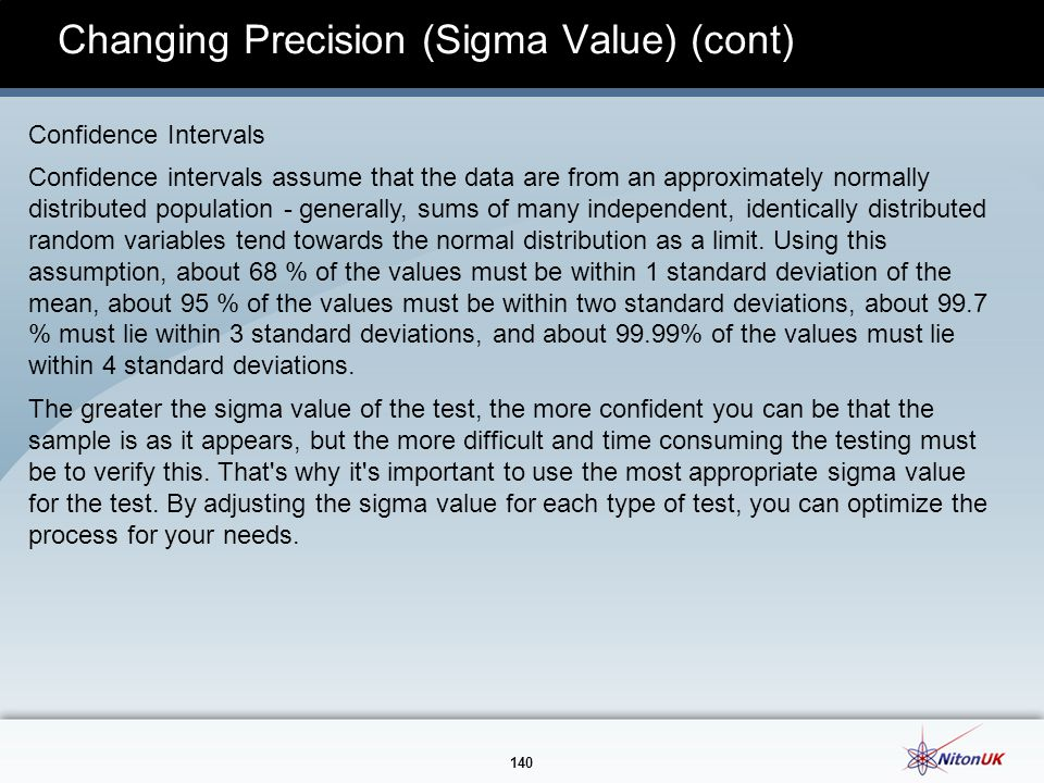 Changing Precision (Sigma Value) (cont)