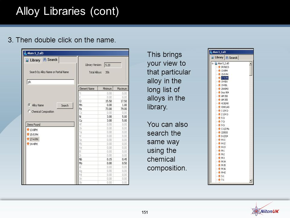 Alloy Libraries (cont)