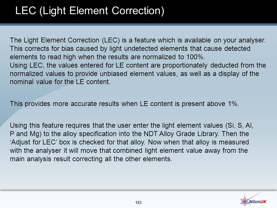 LEC (Light Element Correction)