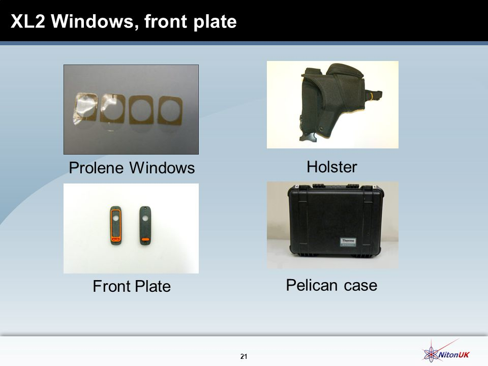 XL2 Windows, front plate Prolene Windows Holster Front Plate