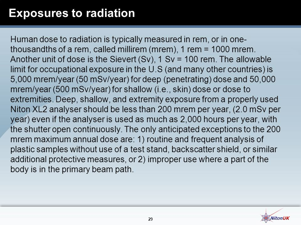 Exposures to radiation