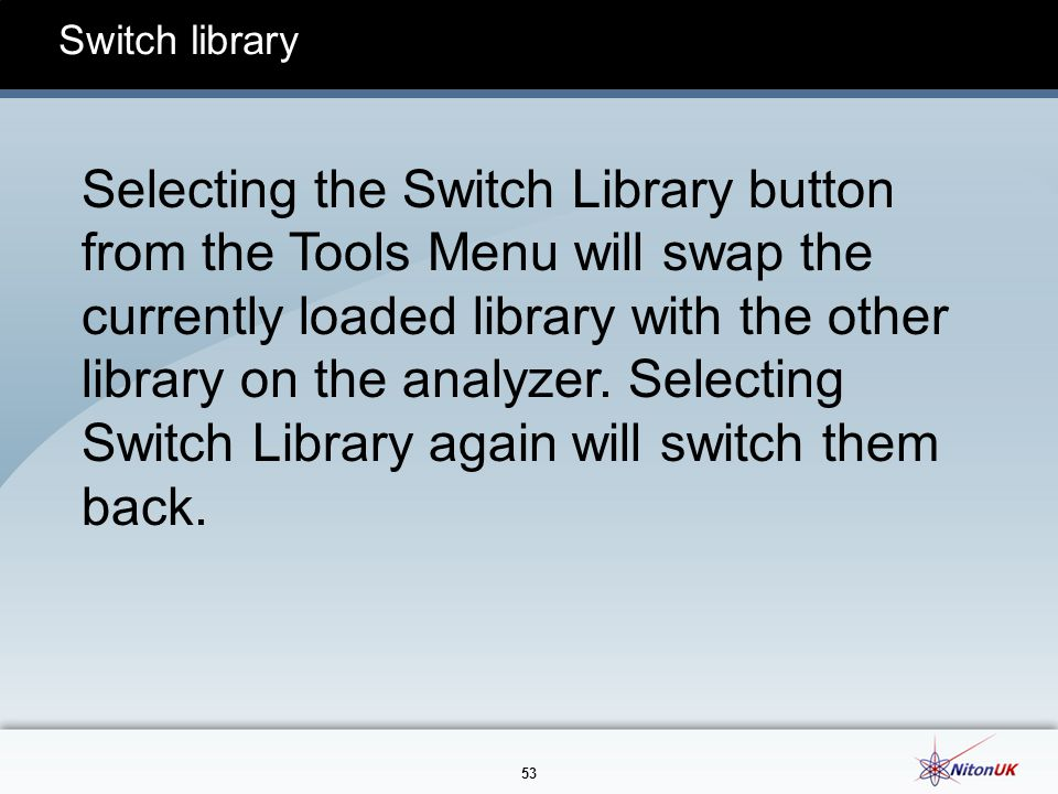 Switch library